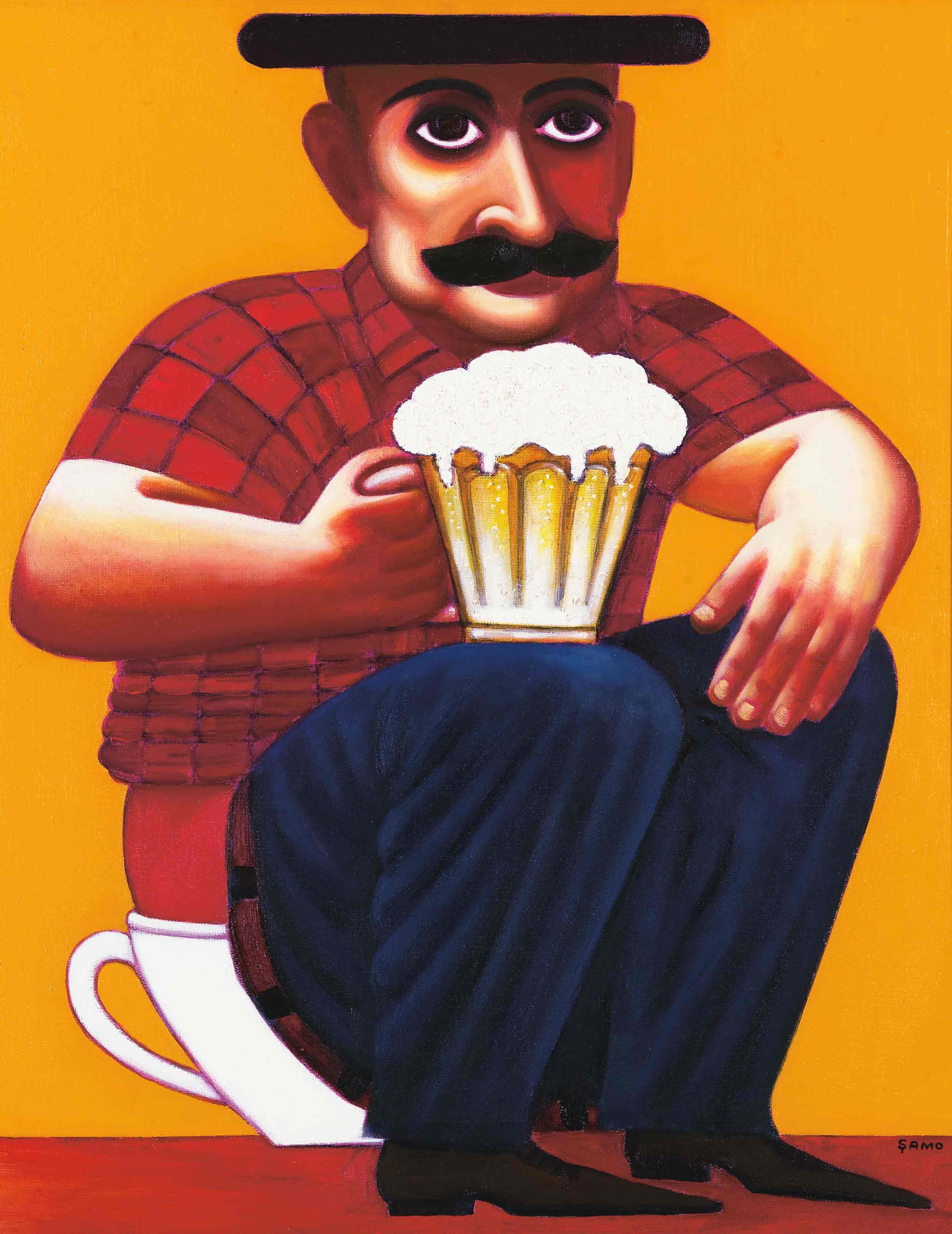 За кружкой пива