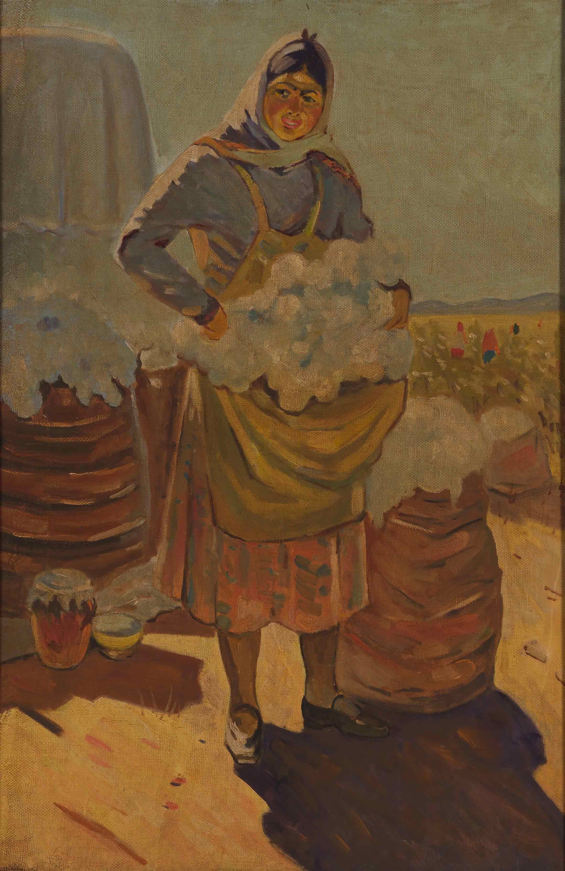 Cotton producer woman