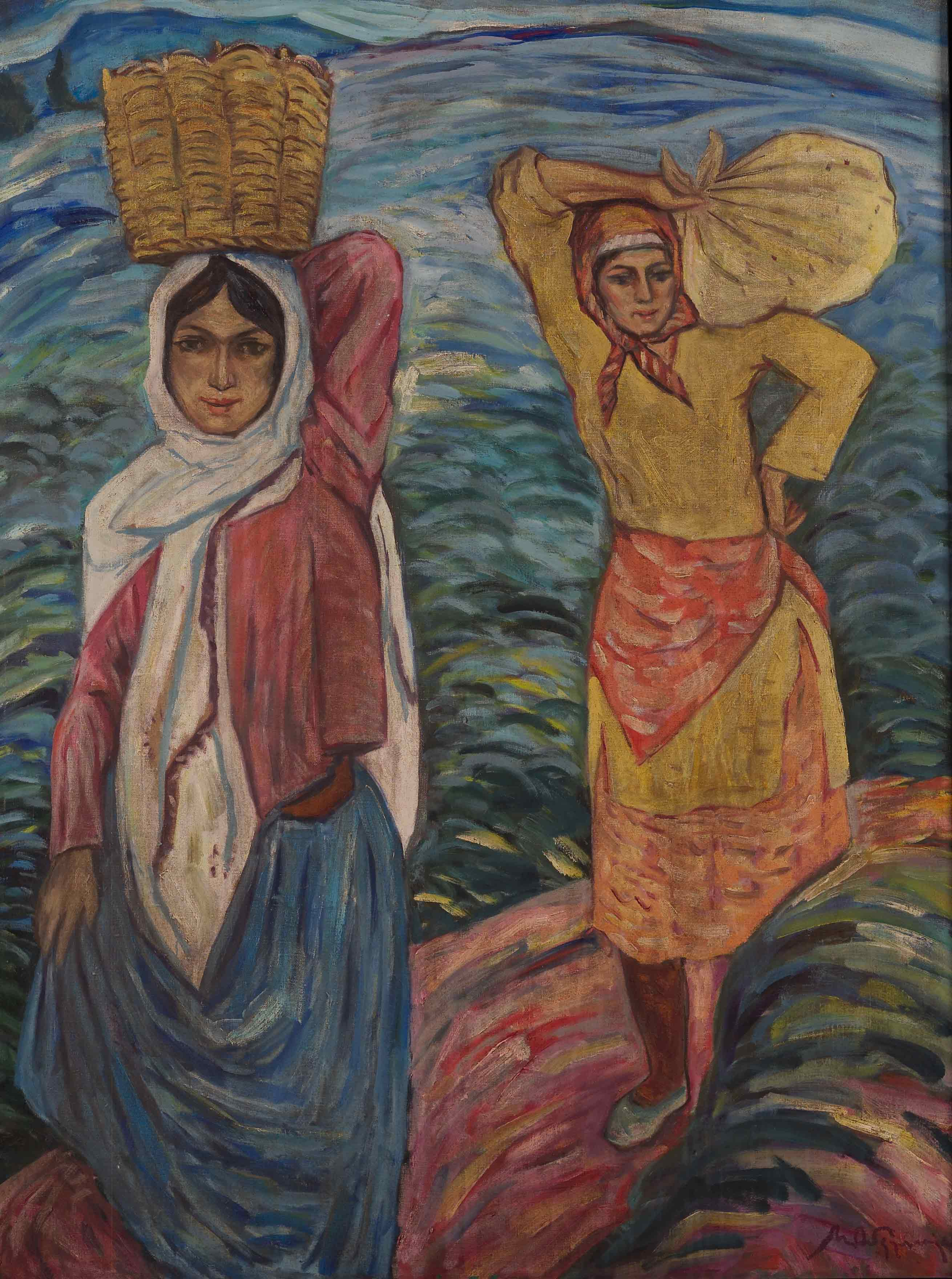 Women carrying cargo